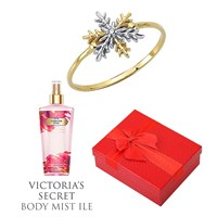 Melis Gold Altın Kartanesi Yüzük Hp0145 + Victoria's Secret Body Mist ile