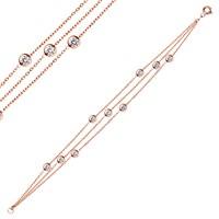 Bella Gloria Altın Kaplamalı Gümüş Rose Şelale Bileklik (GB00109)
