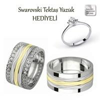 Ejoya Gümüş Çift Alyans P1056