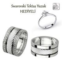 Ejoya Gümüş Çift Alyans P1085