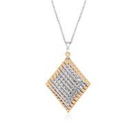 Altınsepeti Gümüş Karo Tel Örgü Kolye Asmf021203