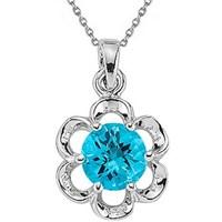 Goldstore Gümüş Blue Topaz Kolye Sp17033