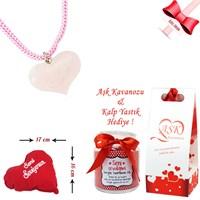Forentina Kuvars Taşlı Kalp Kolye Ve Aşk Kavanozu Fr0263
