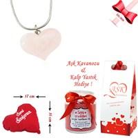 Forentina Kuvars Taşlı Kalp Kolye Ve Aşk Kavanozu Fr0268