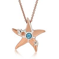 Melin Paris Blue Topaz Deniz Yıldızı Kolye