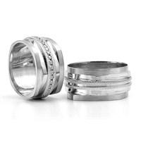 Berk Kuyumculuk Gümüş Alyans 5806(çift)