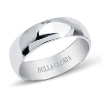 Bella Gloria Altın Kaplamalı Gümüş Bombeli Erkek Alyans (GA00010)
