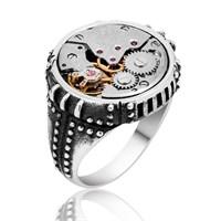Tekbir Silver Gümüş Saat Çarkı Yüzük