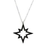 Beyazıt Takı 925 Ayar Gümüş Siyah Kutup Yıldızı Kolyesi