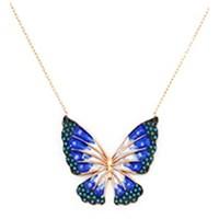 Beyazıt Takı 925 Ayar Gümüş Turkuaz Mavi Kelebek Kolyesi