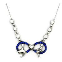 Beyazıt Takı 925 Ayar Gümüş Mavi Sevgili Sonsuzluk Kolyesi