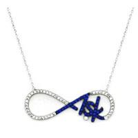 Beyazıt Takı 925 Ayar Gümüş Mavi Taşlı Aşk Kolyesi