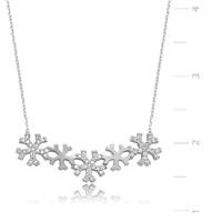 Gumush Kar Taneleri Gümüş Kolye