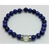 Cecilia Collection Lapis Lazuli Aytaşı Doğal Taş erkek Bileklik