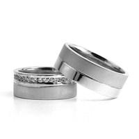 Berk Kuyumculuk Gümüş Alyans 5825(çift)