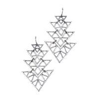 Chiccy Gümüş Üçgenler Küpe