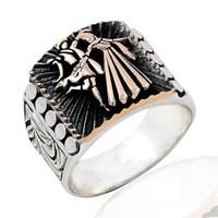 Beyazıt Takı Kafkas Desenli 925 Ayar Gümüş Yüzük