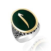 Beyazıt Takı Elif Harfli 925 Ayar Gümüş Yüzük