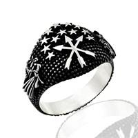 Beyazıt Takı Bozkurt Motifli 925 Ayar Gümüş Yüzük