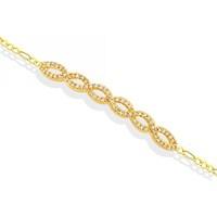 Melis Gold Altın Taşlı Su Yolu Bileklik ZB000055