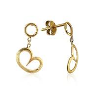 Pırlanta Hediyeler Orta Boy Kalp Sallantılı Küpe (Çift) (Sarı Altın