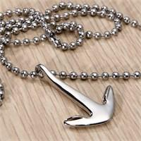 Takı&Trend Gümüş Renk Çelik Çapa Kolye