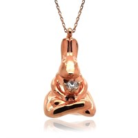 İndigo Yoga Ustası Tavşan Gümüş Kolye