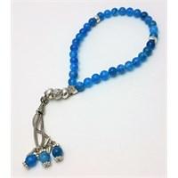 Cecilia Collection Mavi Akik Doğal Taş Tesbih