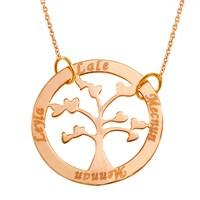 Goldstore Altın Ailemizin Hayat Ağacı İsim Kolye Gp39871