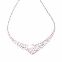 Nusret Takı 925 Ayar Gümüş Ajurlu Kalp Modeli Kolye