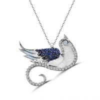 Tesbihane 925 Ayar Gümüş Anka Kuşu Kolye