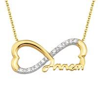 Goldstore 14 Ayar Altın Sonsuz Sevgilerle Annem Kolye Gp39876
