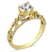 Goldstore 14 Ayar Altın Özel Tasarım Tek Taş Yüzük Grs39902