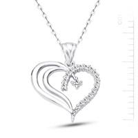 Bella Gloria Altın Kaplamalı Gümüş Tek Taşlı Kalp Kolye (GK00162)