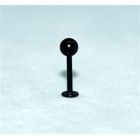 Cadının Dükkanı 316L Cerrahi Çelik Siyah Toplu Dudak Piercing