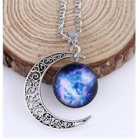 Köstebek Galaxy Moon Kolye