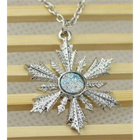 Köstebek Once Upon A Time - Snow Flake (Elsa Pendant) Karlar Kraliçesi Kolye