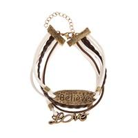 Betico Fashion Kahverengi Sonsuz Aşka Inan Bilekliği