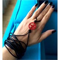 Betico Fashion Kirmizi Siyah Barış Wrap Şahmeran