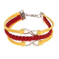 Betico Fashion Renkli Sarı-Kırmızı Bileklik