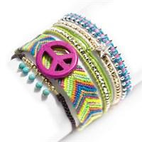 Betico Fashion Renkli Doğal Taşlardan El Yapımı Dolama Bileklik