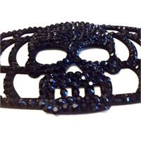 Betico Fashion Siyah Kurukafa Bileklik