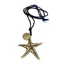 Betico Fashion Bronz Denizyıldızı Kolye