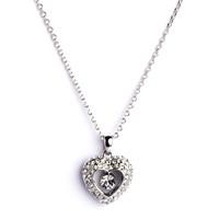 Betico Fashion Gümüş Kalp Kolye