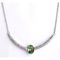 Betico Fashion Yeşil Hilal Kolye
