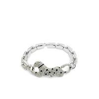 Betico Fashion Gümüş Leopar Bileklik