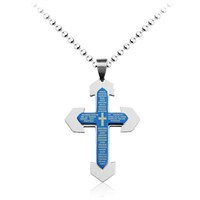 Betico Fashion Mavi Dualı Haç Kolye