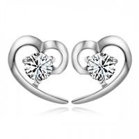 Betico Fashion Gümüş Kalp Küpe