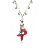 Betico Fashion Kırmızı Denizkızı Kolye
