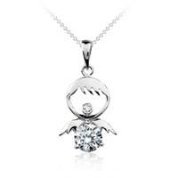 Betico Fashion Gümüş Gümüş Küçük Melek Kolye Ucu